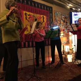 Flutes at a Book Signing